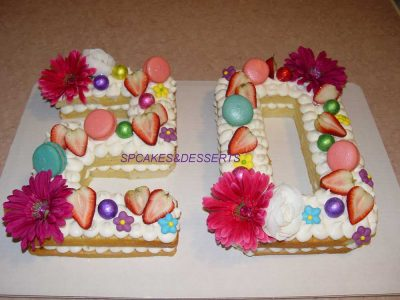 20 Fruit Flowers Cake