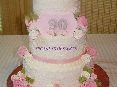 90 Pink Wedding Cake