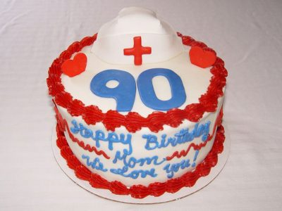 90 Years Birthday Cake