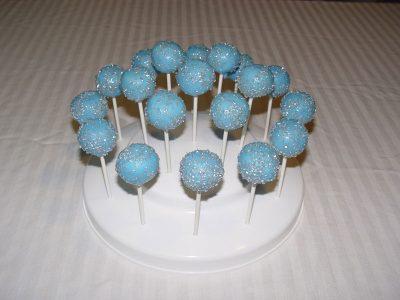 Blue Silver Cake Pops
