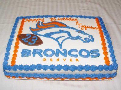 Denver Bronco Cake