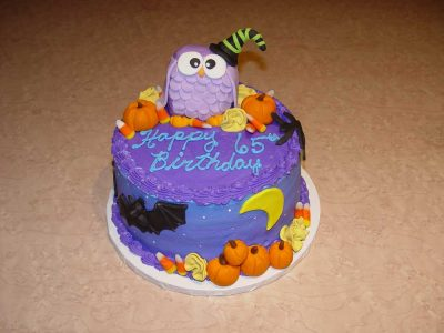 Halloween Purple Cake