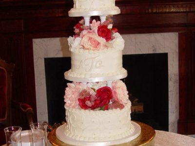 Pillar Tier Wedding Cake
