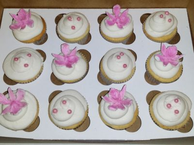 Pink Orchids Cupcakes