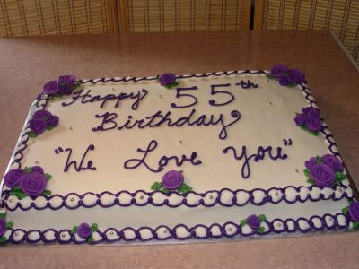 Purple Half Sheet Cake
