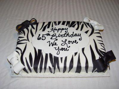 Sq Zebra Print Cake