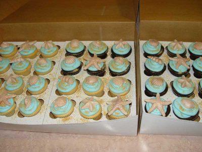 Sea Sheel Cupcakes