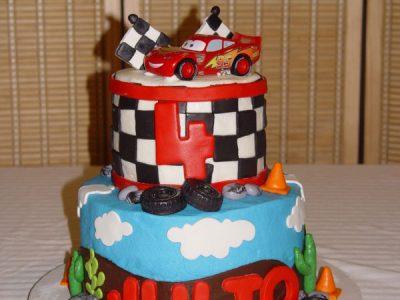 Tier Cars Cake