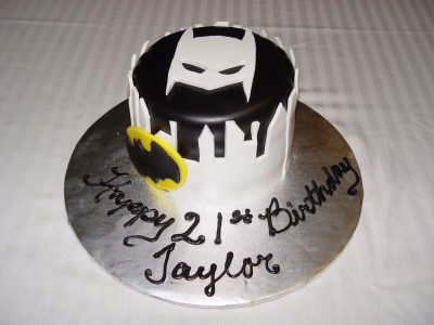 White Batman Cake