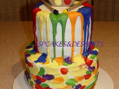 Art Paint Cake