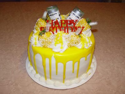 Bacardi Yellow Birthday Cake