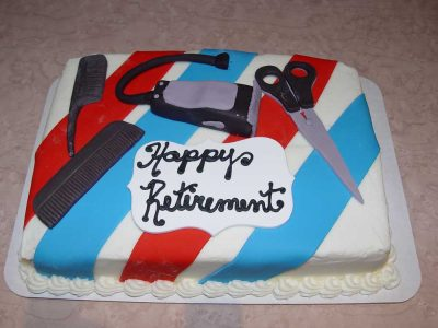 Barber Shop Retirement Cake