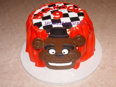 Bear Checkered Cake