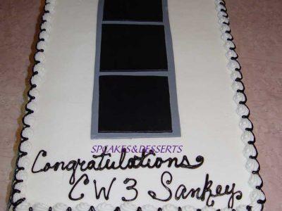 Black Gray Cake