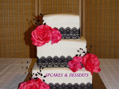 Black Hot Pink Wedding