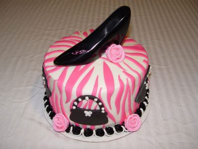 Black Shoe Zebra Cake