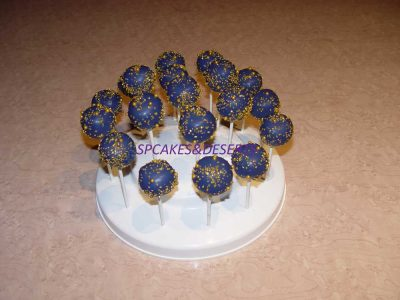 Blue Gold Cake Pops