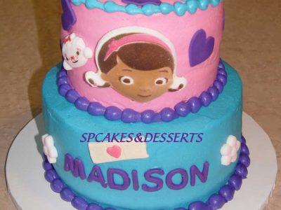 Blue Pink Girl Cake