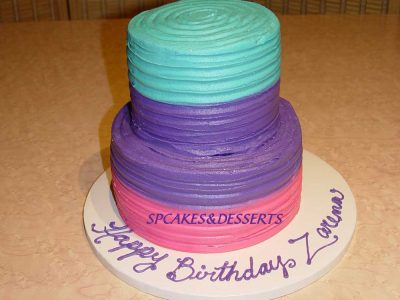 Blue Purple Pink Cake