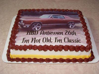 Car Photo Cake