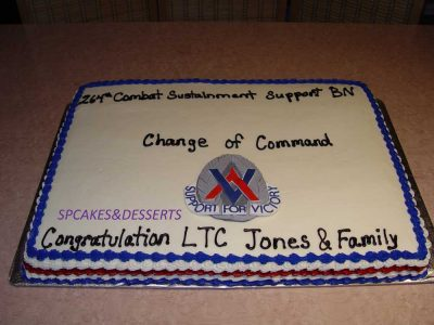 Change Of Commands Cake