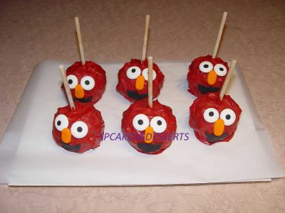 Elmo Caramel Apple
