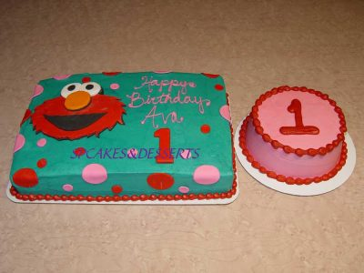 Elmo First B Day Cake
