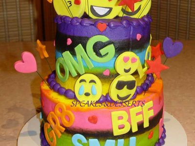 Emoji Rainbow Cake