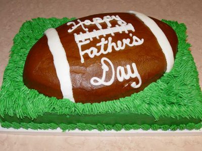 Fathers Day Football Cake