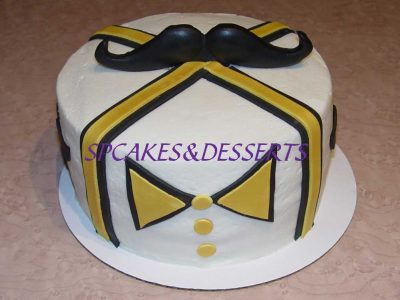 Gold Bow Tie Cake