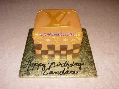 Gold Louis Vuitton Cake