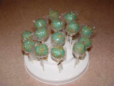 Green Gold Cake Pop