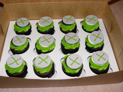 Green X Cupcakes