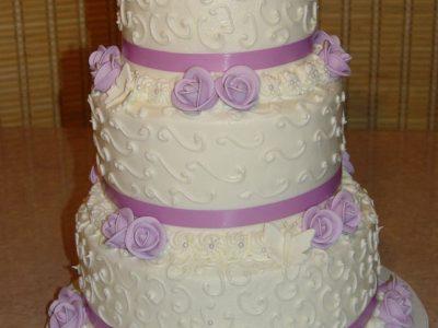 Lavander Wedding Cake