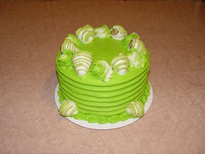 Lime Green Strawberry Cake