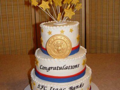 Military Congratulations Cake