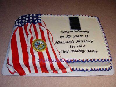 Military Service Cake