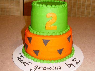 Orange Green Cake