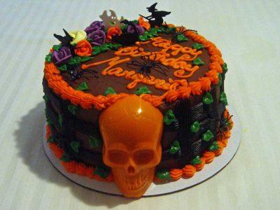 Orange Skull Cake