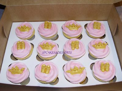 Pink Crown Shoes Cupcakes