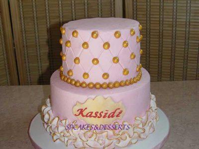 Pink Gold Cake