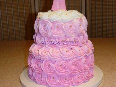 Pink Swirl Baby Cake