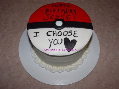 Pokemom Ball Cake