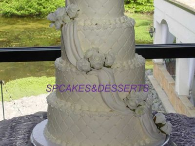 Pond Wedding Cake