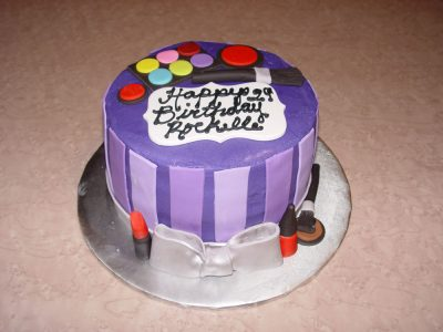 Purple Make Up Cake