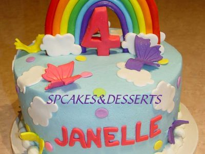 Rainbow Childrens Cake