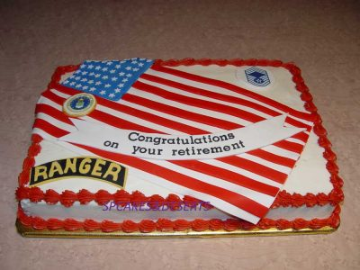 Ranger Retirement Cake