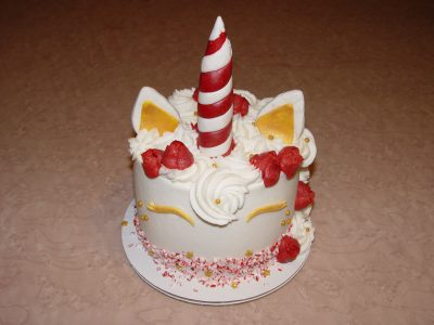 Red White Unicorn Cake