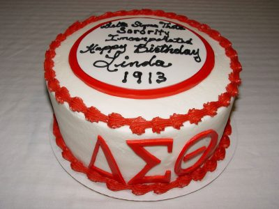 Sorority Birthday Cake