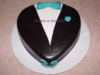 Teal Tux Cake